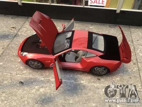 Ferrari California 2009 for GTA 4 back left view