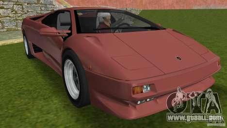 Lamborghini Diablo VTTT Black Revel for GTA Vice City upper view