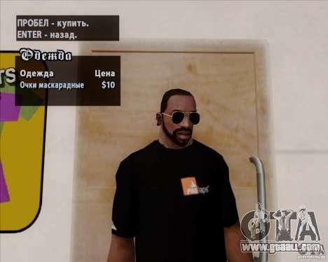 Aviator Glasses for GTA San Andreas third screenshot