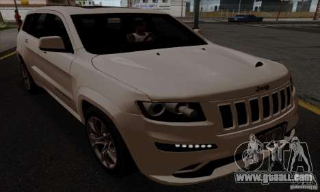 Jeep Grand Cherokee SRT-8 2013 for GTA San Andreas back left view