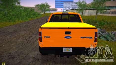 Ford F-150 SVT Raptor for GTA Vice City back left view