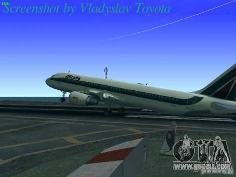Airbus A320-214 Alitalia v.1.0 for GTA San Andreas