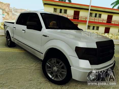 Ford F150 Platinum Edition 2013 for GTA San Andreas back left view