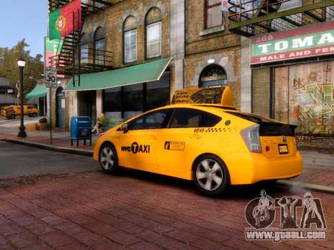 Toyota Prius NYC Taxi 2013 for GTA 4 back left view