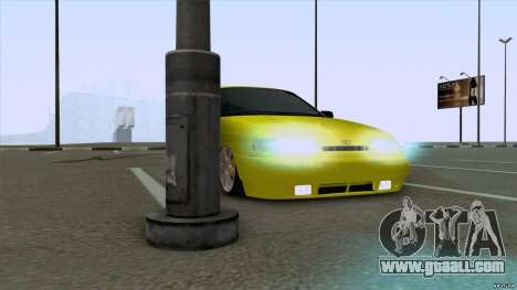 VAZ 2110 Yellow sand for GTA San Andreas back left view