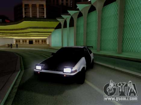 Toyota Sprinter Trueno AE86 GT-Apex Kouki for GTA San Andreas back left view