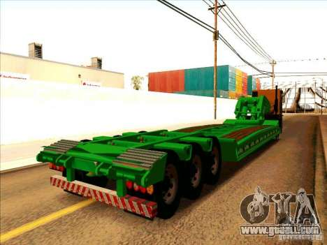 Trailer Iveco Eurotech for GTA San Andreas back left view