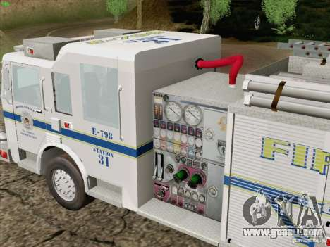 Pierce Pumpers. B.C.F.D. FIRE-EMS for GTA San Andreas side view