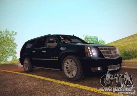 Cadillac Escalade ESV 2012 for GTA San Andreas right view