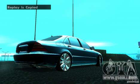 Mercedes-Benz S600 W200 for GTA San Andreas back left view