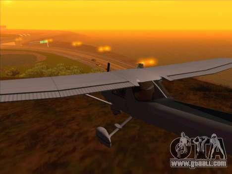 Cessna 152 v.2 for GTA San Andreas back left view