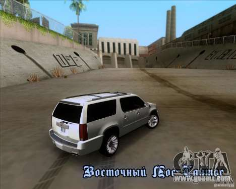 Cadillac Escalade ESV Platinum 2013 for GTA San Andreas upper view