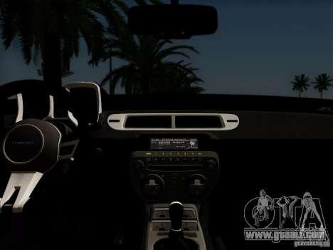 Chevrolet Camaro ZL1 2012 for GTA San Andreas back view