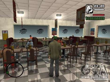 New textures eateries for GTA San Andreas sixth screenshot