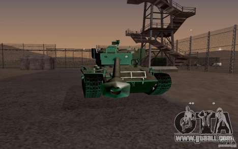 T26 E4 Super Pershing v1.1 for GTA San Andreas back left view