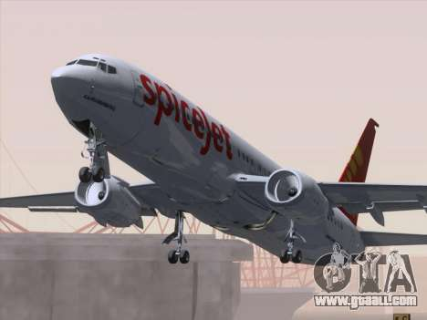 Boeing 737-8F2 Spicejet for GTA San Andreas interior