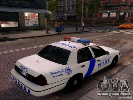 Ford Crown Victoria Homeland Security for GTA 4 upper view