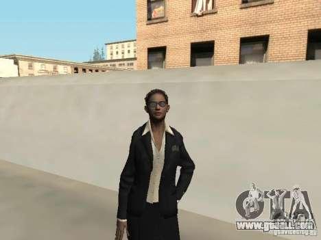F.B.I female skin for GTA San Andreas