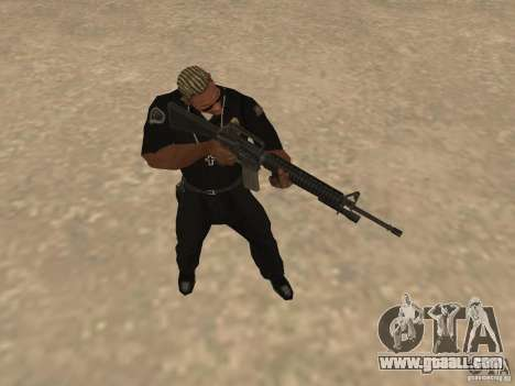 M4A1 from Left 4 Dead 2 for GTA San Andreas fifth screenshot