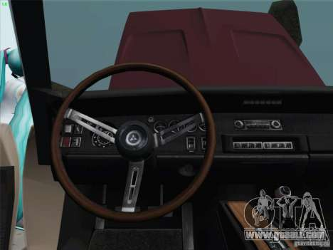 Dodge Charger 1969 for GTA San Andreas inner view