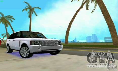 Land Rover Range Rover Supercharged 2008 for GTA Vice City upper view