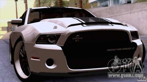 Ford Shelby GT500 Super Snake for GTA San Andreas back view