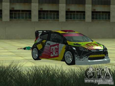 Ford Fiesta H.F.H.V. Ken Block Gymkhana 5 for GTA San Andreas back left view