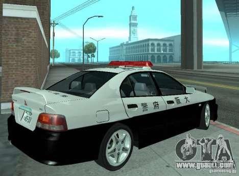 Mitsubishi Galant Police for GTA San Andreas right view