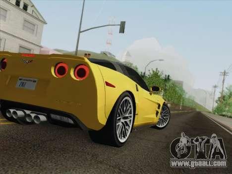 Chevrolet Corvette ZR1 for GTA San Andreas wheels