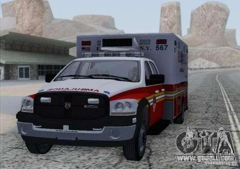 Dodge Ram Ambulance for GTA San Andreas back left view