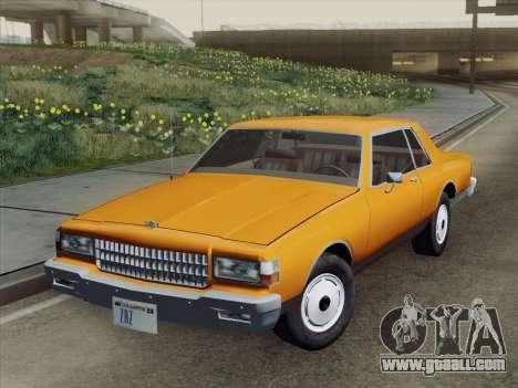 Chevrolet Caprice 1986 for GTA San Andreas