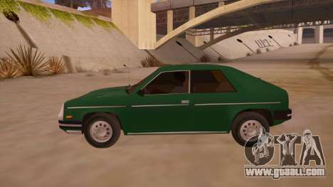 Chevrolet Chevette 1976 for GTA San Andreas left view
