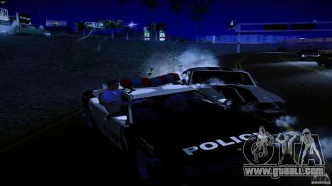 Cops shoot out of machine for GTA San Andreas third screenshot