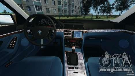BMW 750iL E38 1998 for GTA 4 back view