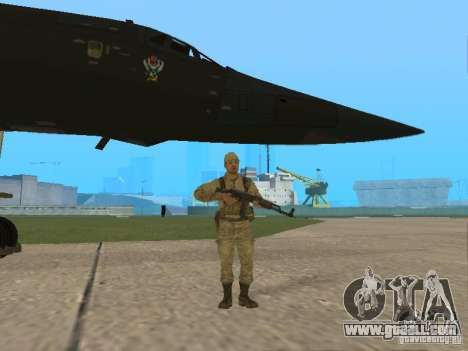 Tu 160 Black Jack for GTA San Andreas back view