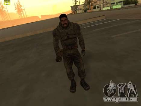A large Pack of free stalkers for GTA San Andreas sixth screenshot