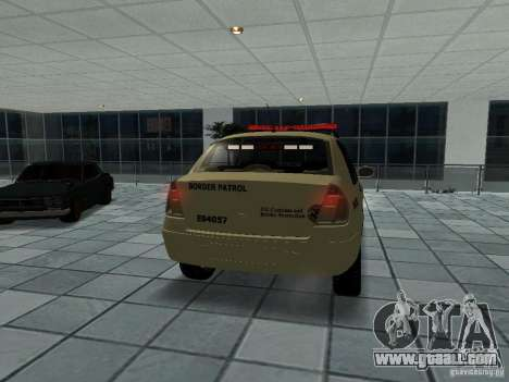 Renault Clio Symbol Police for GTA San Andreas back left view