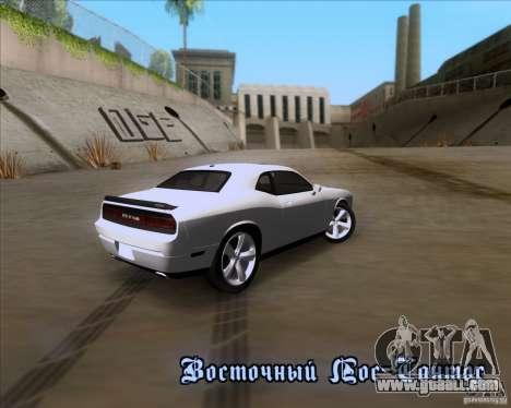 Dodge Challenger SRT8 2009 for GTA San Andreas back view