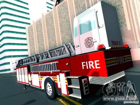 Trailer for Seagrave Tiller Truck for GTA San Andreas right view