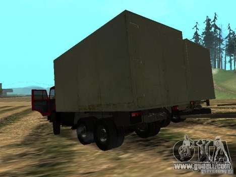 KAMAZ 5320 for GTA San Andreas back left view