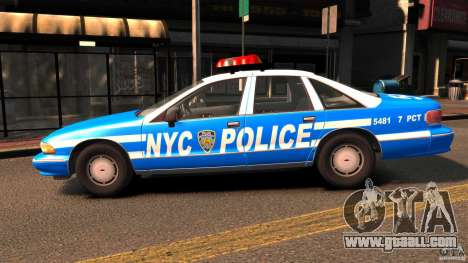 Chevrolet Caprice 1993 NYPD for GTA 4 left view