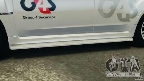 Subaru Impreza WRX STi 2011 G4S Estonia for GTA 4