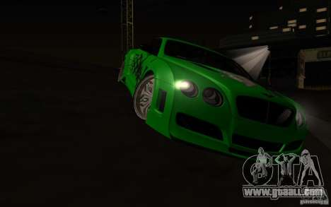 Bentley Continental GT for GTA San Andreas side view