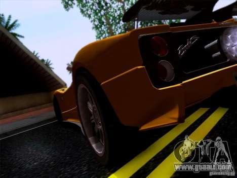 Pagani Zonda C12S Roadster for GTA San Andreas right view