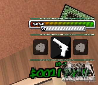P-HUD for GTA San Andreas second screenshot