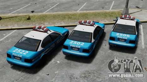 Declasse Merit Police Cruiser ELS for GTA 4 back view