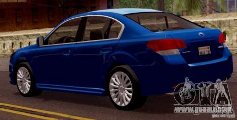 Subaru Legacy B4 2010 for GTA San Andreas right view
