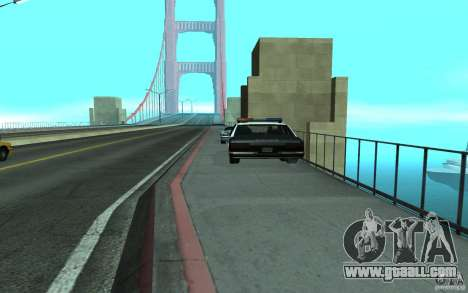 Police at the bridge, San Fierro for GTA San Andreas second screenshot