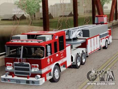 Pierce Arrow XT LAFD Tiller Ladder Truck 10 for GTA San Andreas upper view