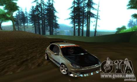 Peugeot 206 Tuning for GTA San Andreas inner view
